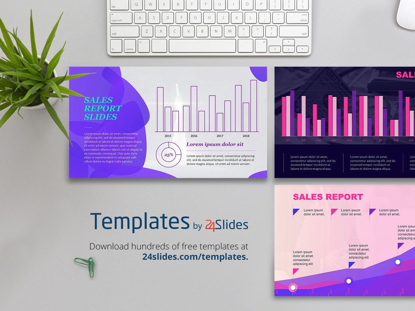 Sales Report Presentation Template Free Download Free
