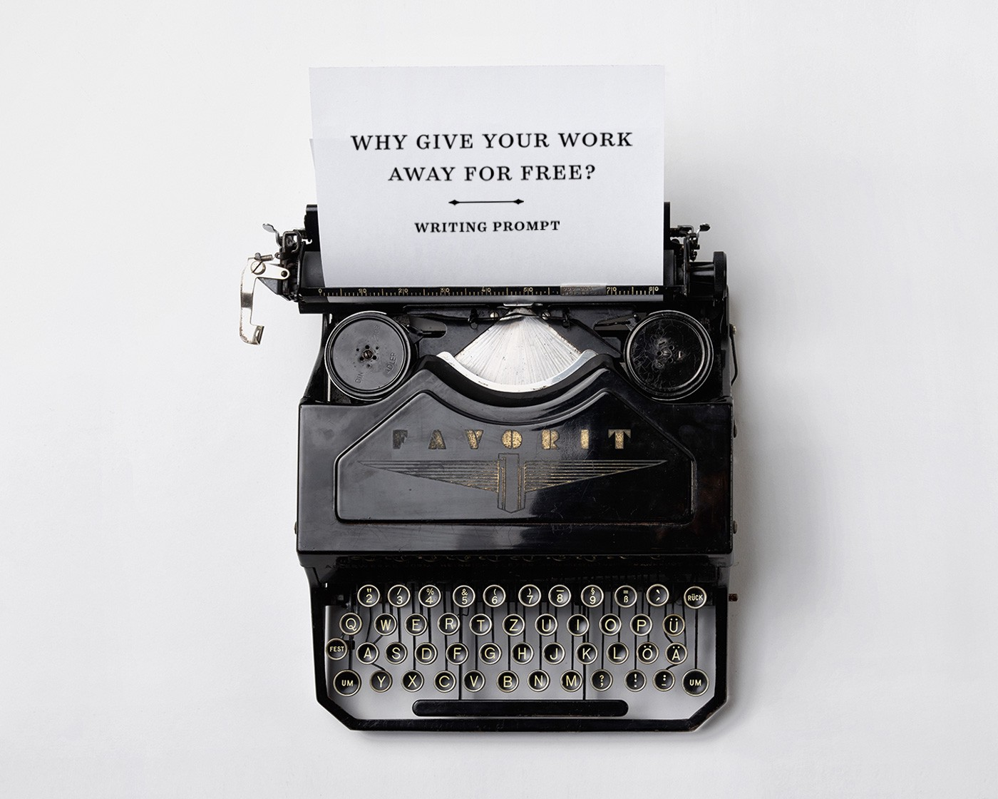 why give away your work for medium writing prompts medium