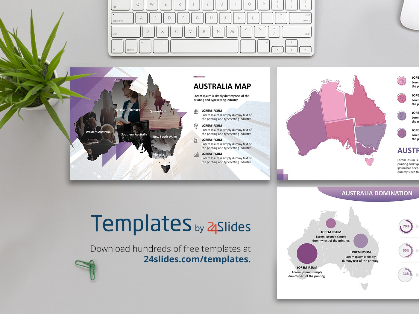 australia maps powerpoint presentation template free download