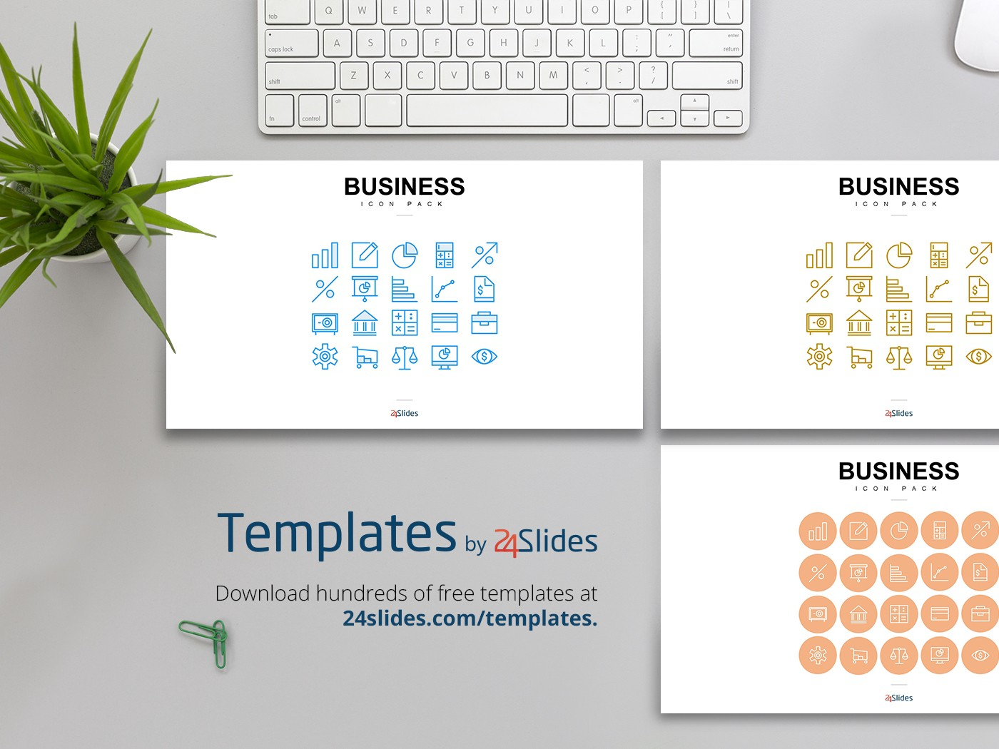Presentation Business Icons Presentation Template | Free Download