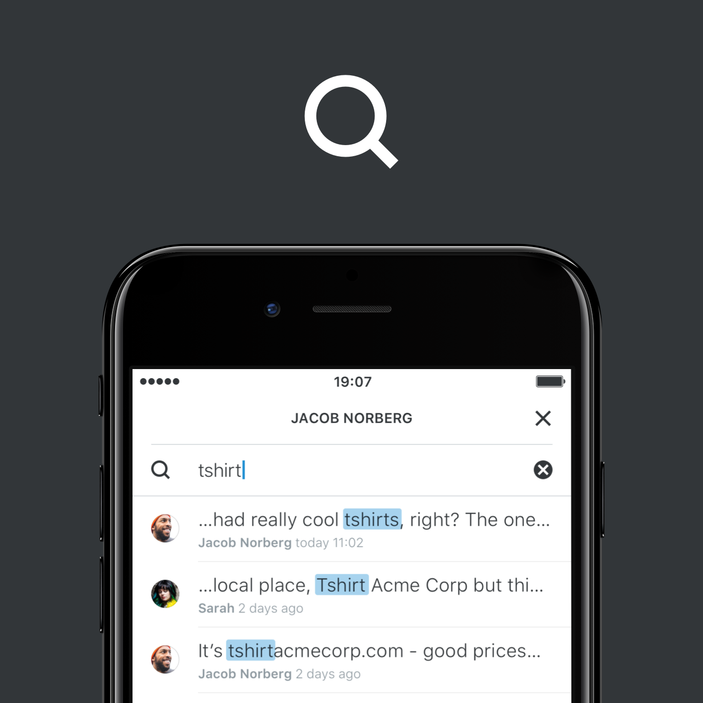 search text messages wire medium