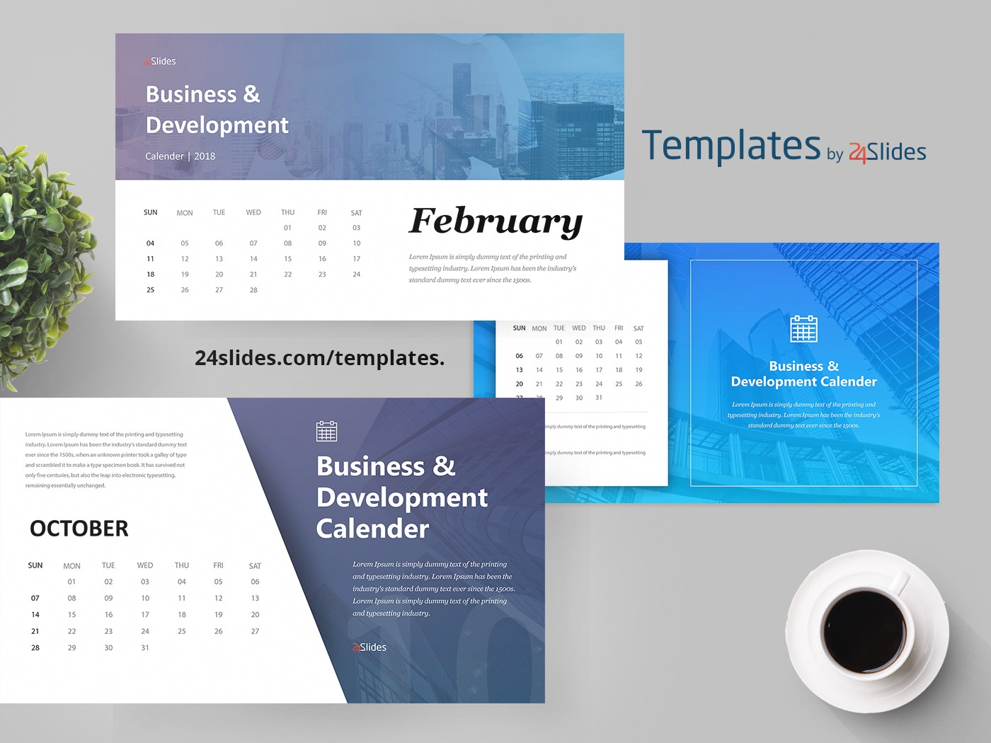 Business calendar presentation template free download friedricerecipe Gallery