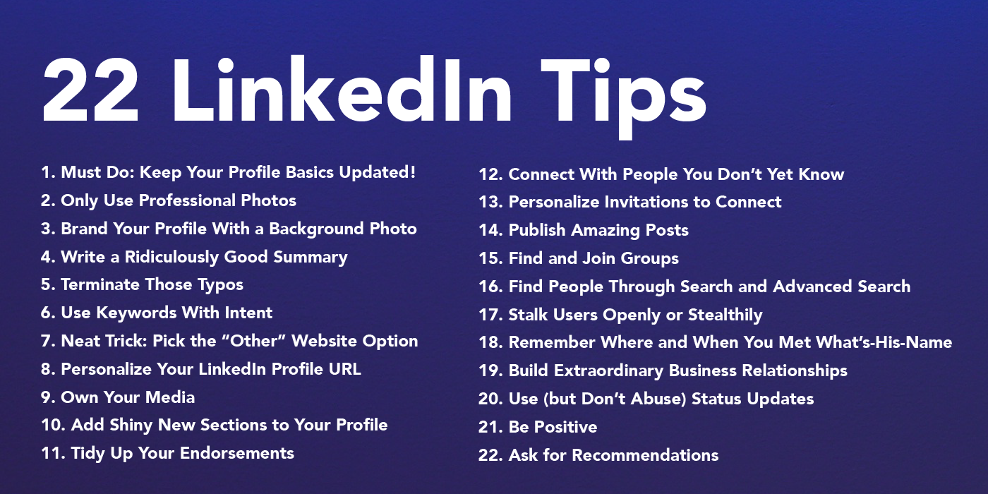 Easy Ways You Can Improve Your Linkedin Profile