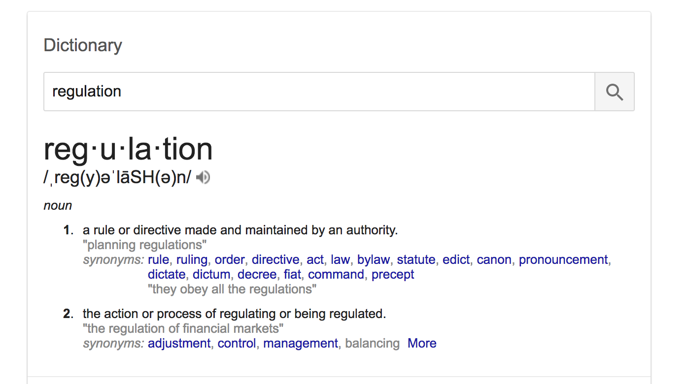 What is regulation