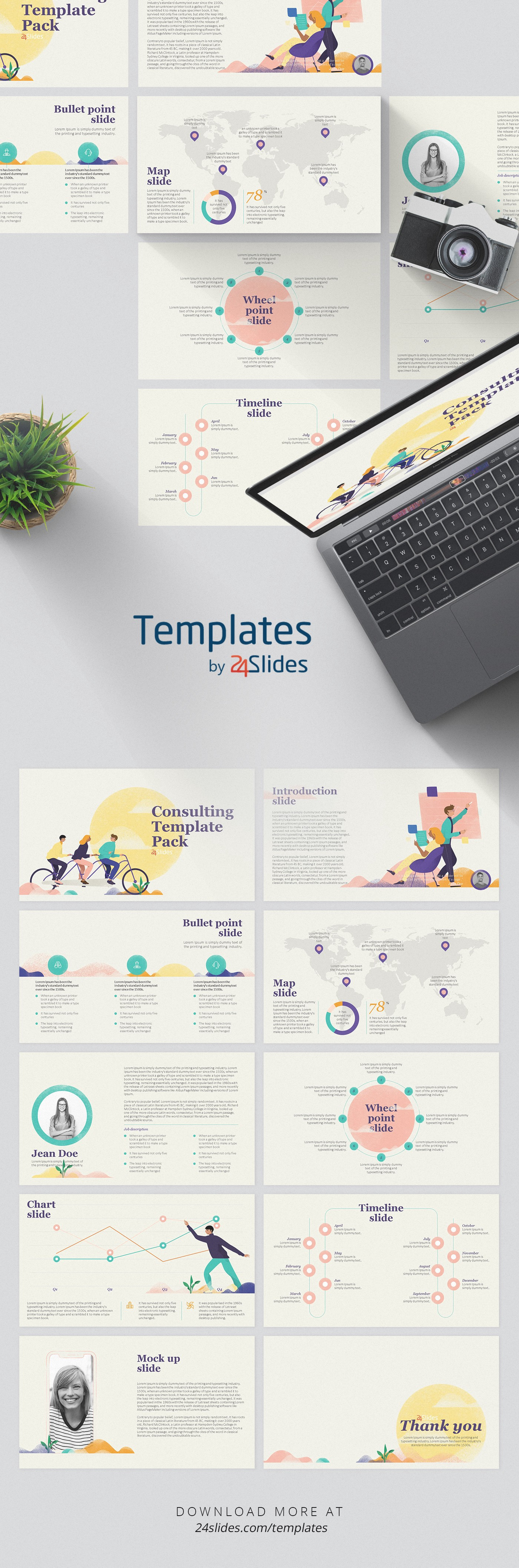 soft consulting presentation pack template | free download, Presentation Pack Template, Presentation templates