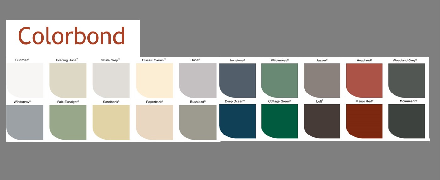 What Colorbond Roofing Colors are Available on Action Sheet Metal?