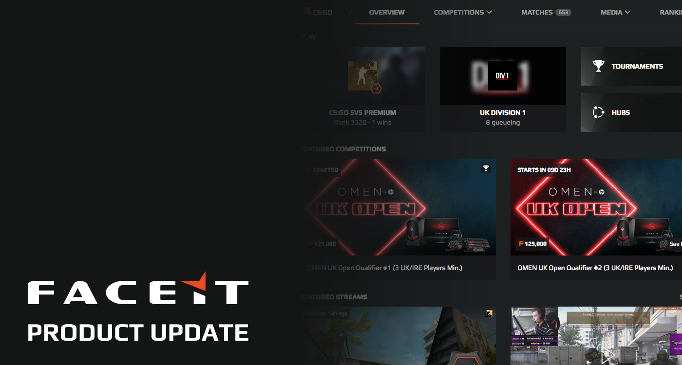 new home pinned messages organizer pages more faceit