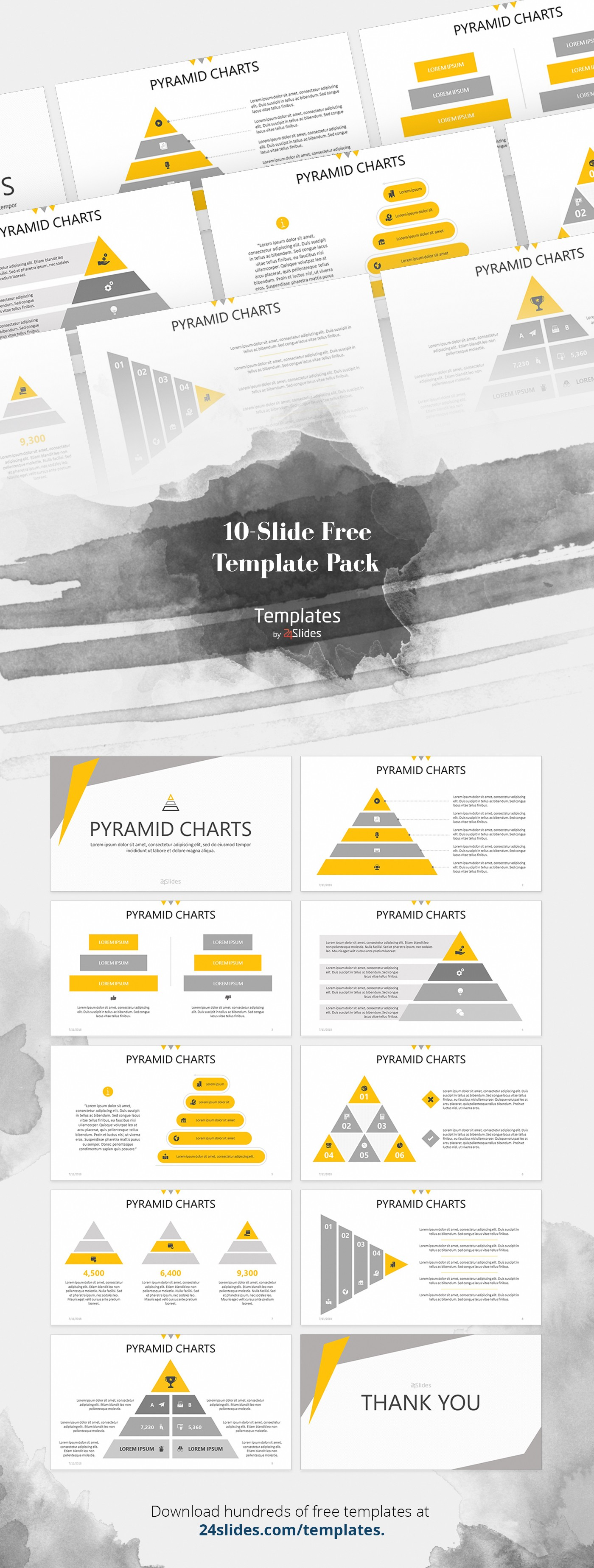 Pyramid Chart Presentation Template Free Download Diagram