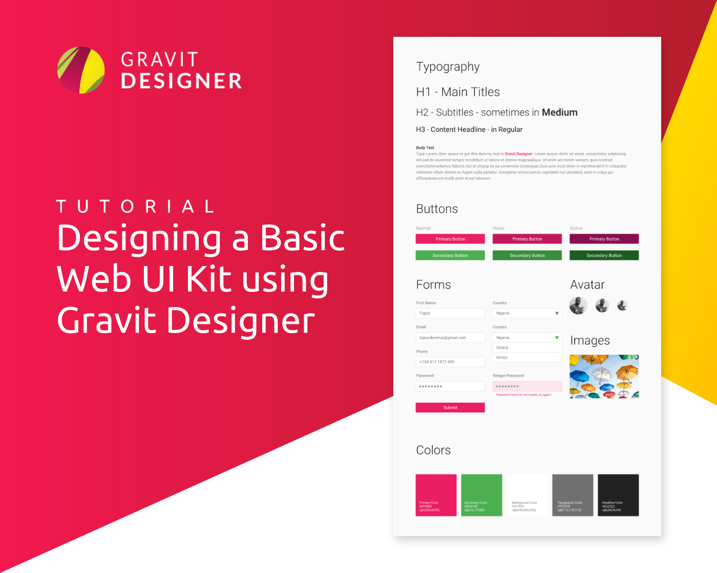 Designing A Basic Web Ui Kit Using Gravit Designer Gravit Designer
