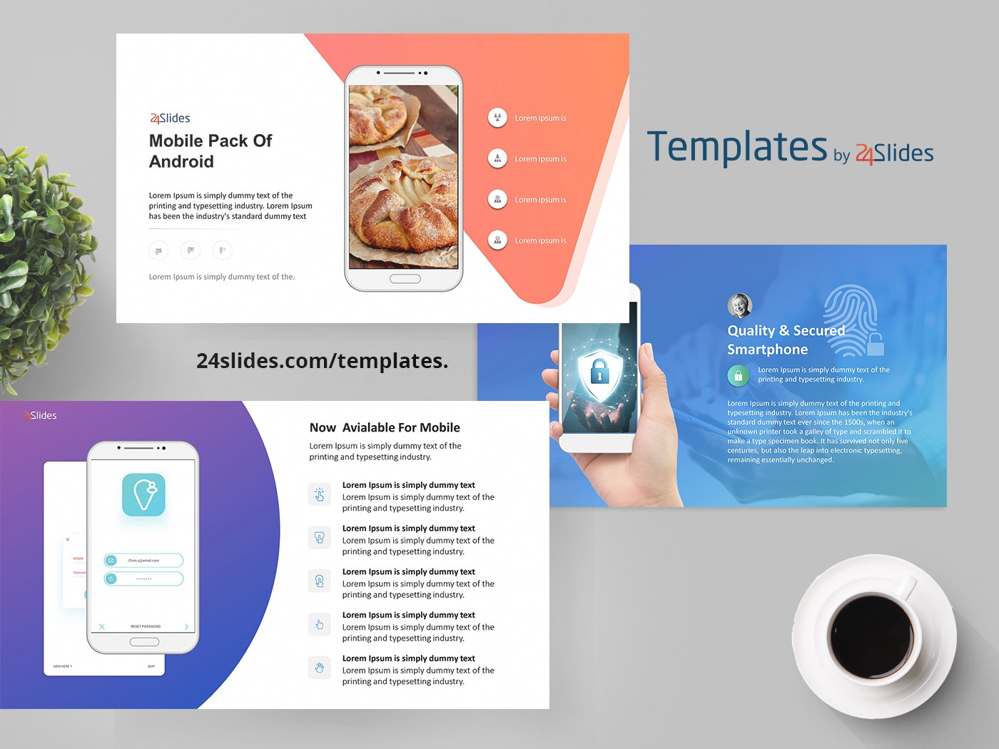 android mobile presentation template free download