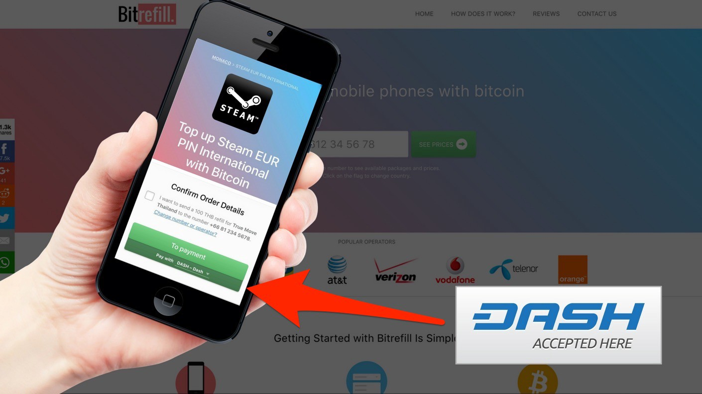 You can now refill with dash bitrefill blog as of today you can can recharge your phone balance send top ups to friends and family and buy gift cards using dash negle Images