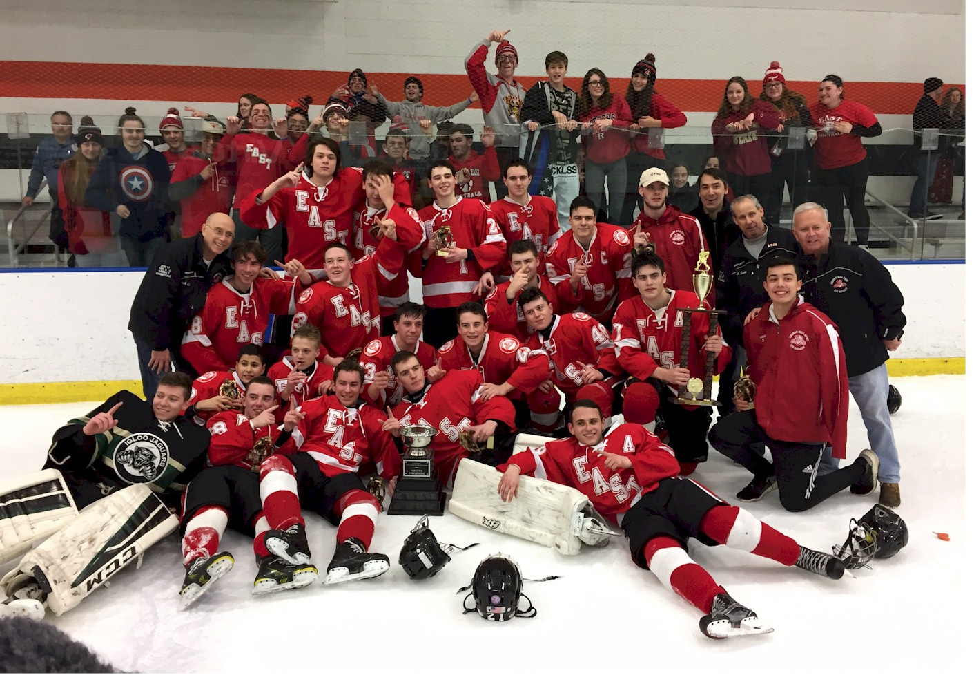 Though Cherry Hill High School East ice hockey entered the finals of the  South Jersey High School Hockey League Tier II playoffs needing to beat  Holy Lenape ...