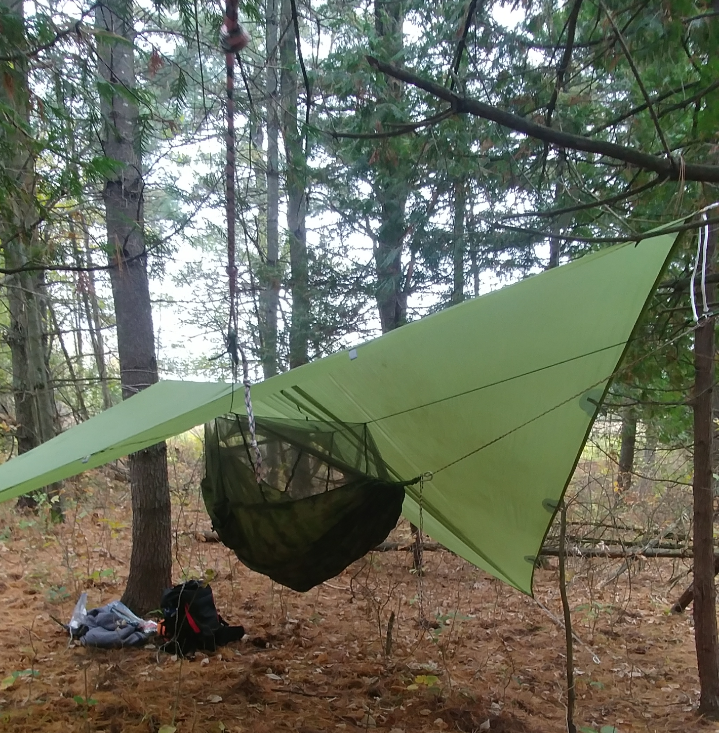 Medium image of the first of many reasons as to why hammock camping is superior to every other form of camping is the simplicity of setting up a hammock