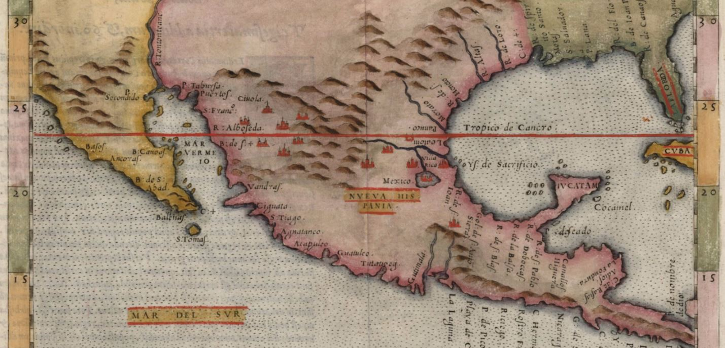 Mapping texas from frontier to the lone star state nveva hispania detail girolamo ruscelli nveva hispania tabvla nova venice 1561 glo map 93796 general map collection texas general land office archives and gumiabroncs Image collections