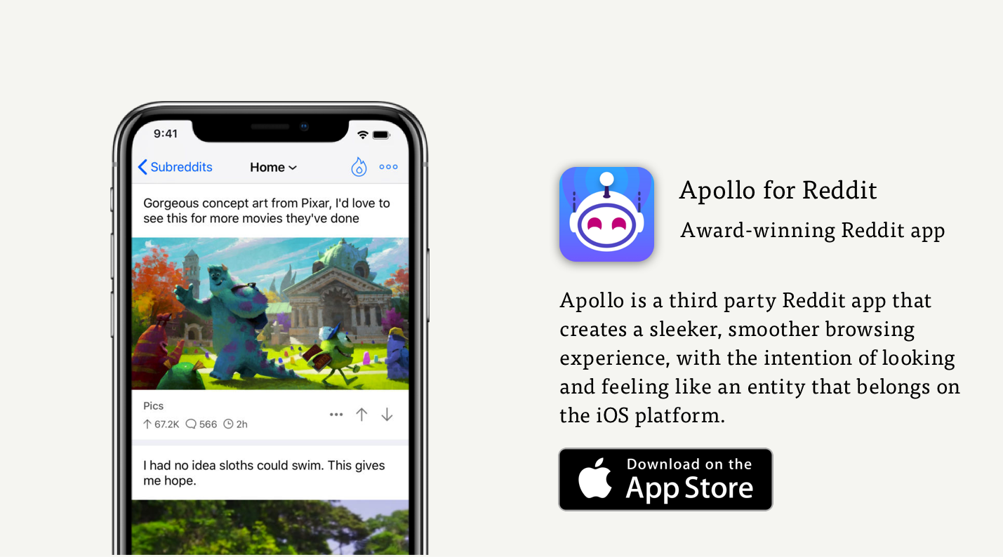 Meet Apollo: a Reddit App By Redditors, For Redditors