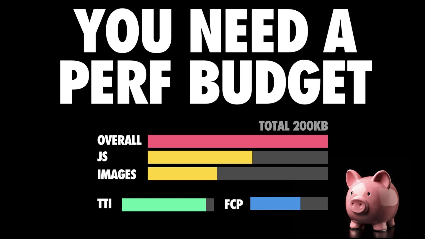 you need a perf budget diagram