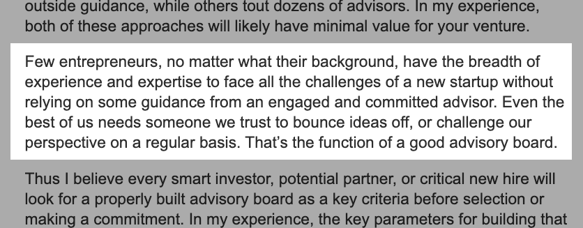 Matin Zwilling on why startup advisors are important