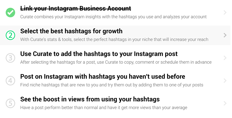 making your first post on Instagram using Curate