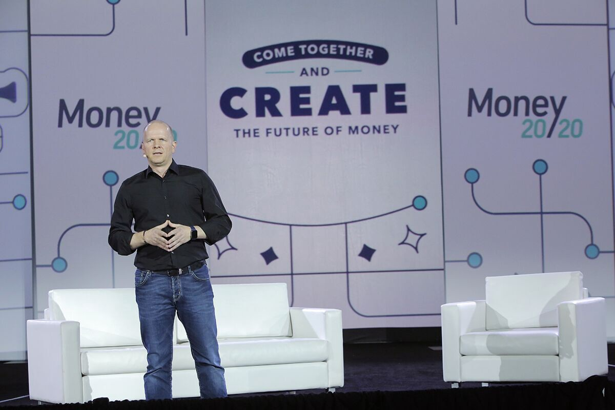 Mastercard Chief Product Officer — and Accion board member — Michael Miebach speaking at Money 20/20 in Las Vegas.