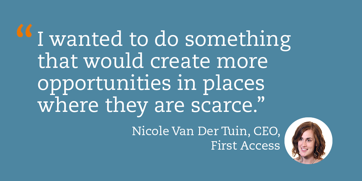 Nicole Van Der Tuin of First Access