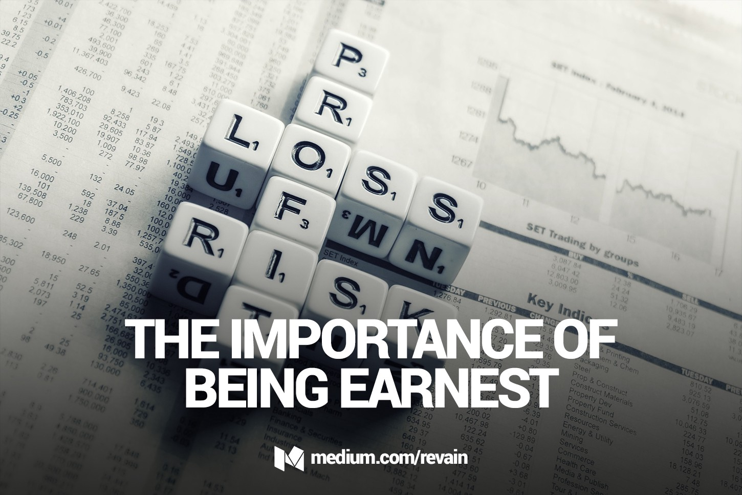 The Importance Of Being Earnest: How Not To Lose All Your Money When ...