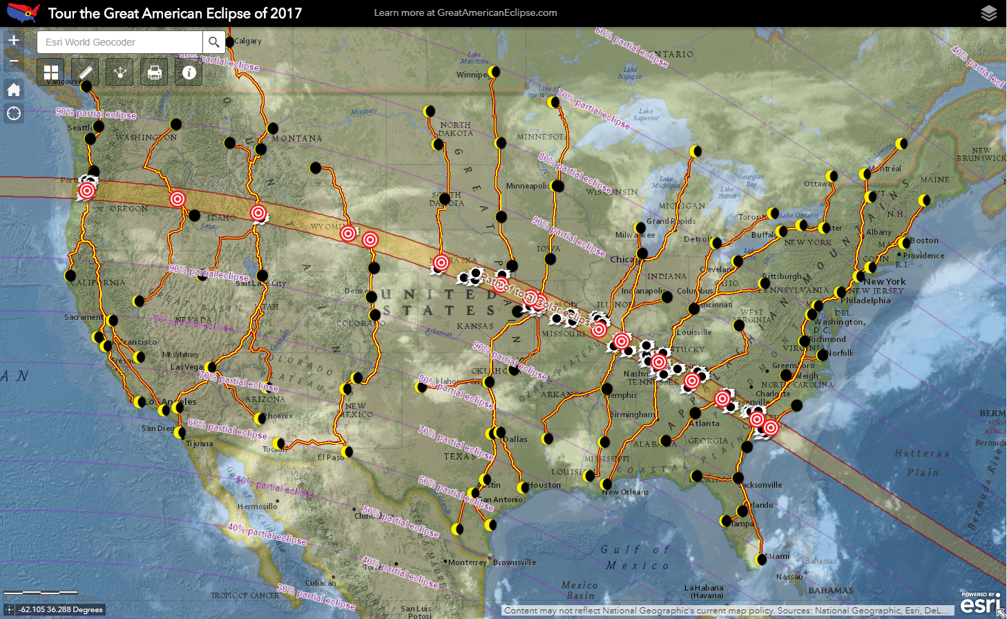 map showing all kinds of eclipse info from httpswwwgreatamericaneclipsecom