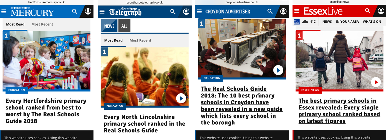Education news: a selection of sites