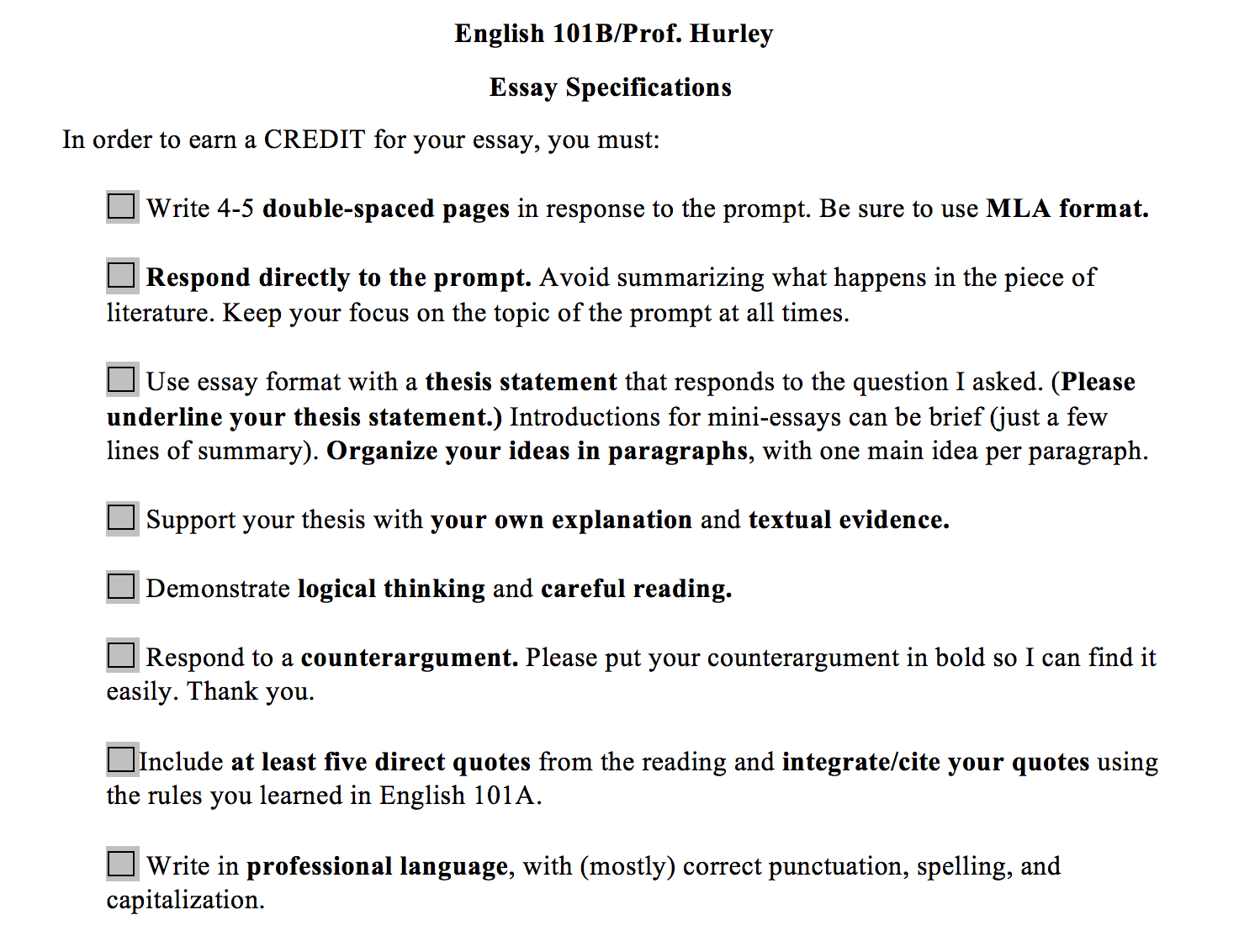 english 101 essay format English 101: format guidelines the papers you write for english 101 must be analytical that is, they the first page of your essay must contain 19 lines.