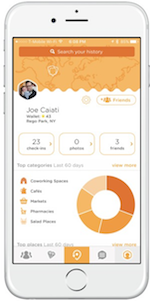 screenshot of Foursquare Swarm mobile app