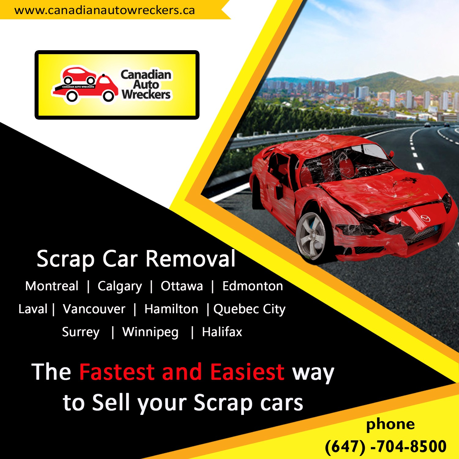 Scrap Car Removal Calgary — Call Us (647–704–8500) – Hugodiego – Medium