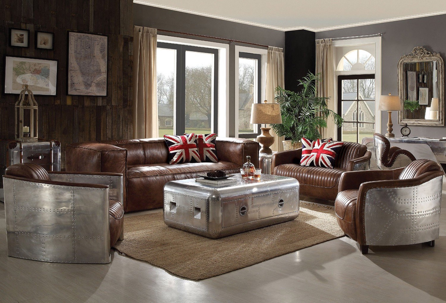 Industrial Style Becomes More And Popular Nowadays Want To Have A Living Room That Is In Fashion Then Create An Appeal With Furniture