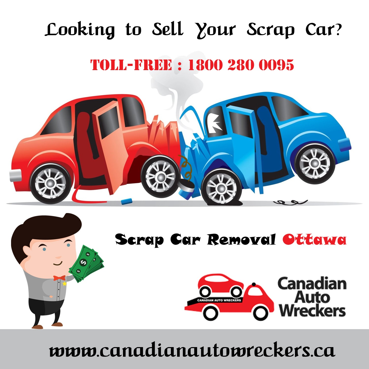 WE PAY CASH FOR YOUR SCRAP CARS — WE WILL BEAT ANY COMPETITOR IN TORONTO