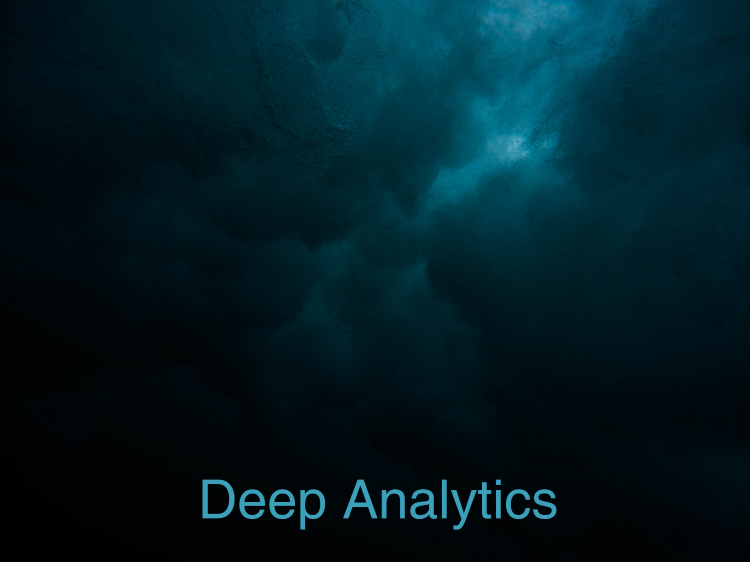 The Data Trader's Guide To Deep Analytics – Career Accelerator