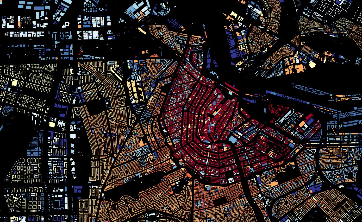 All 9 866 539 Buildings In The Netherlands Were Mapped And Shaded According To Their Year Of Construction In The Map Above The Map Was Created By Bert