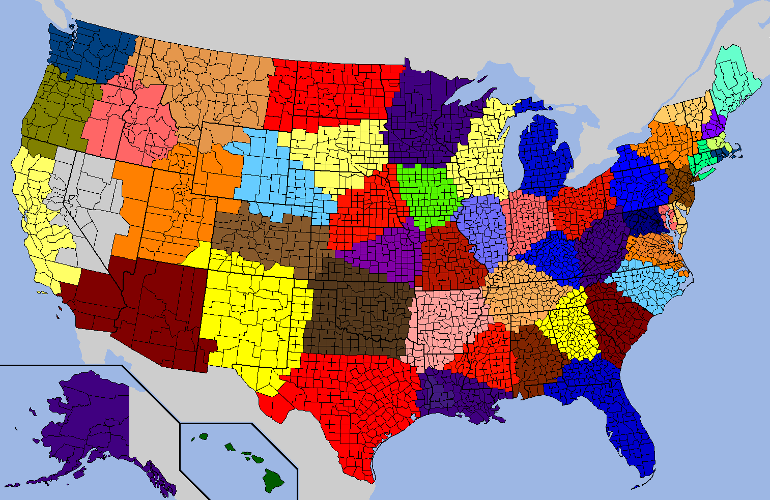 A Statistically Fairer Map For Us Residents Though Not For The Grade School Kids Who Have To Learn How To Draw It