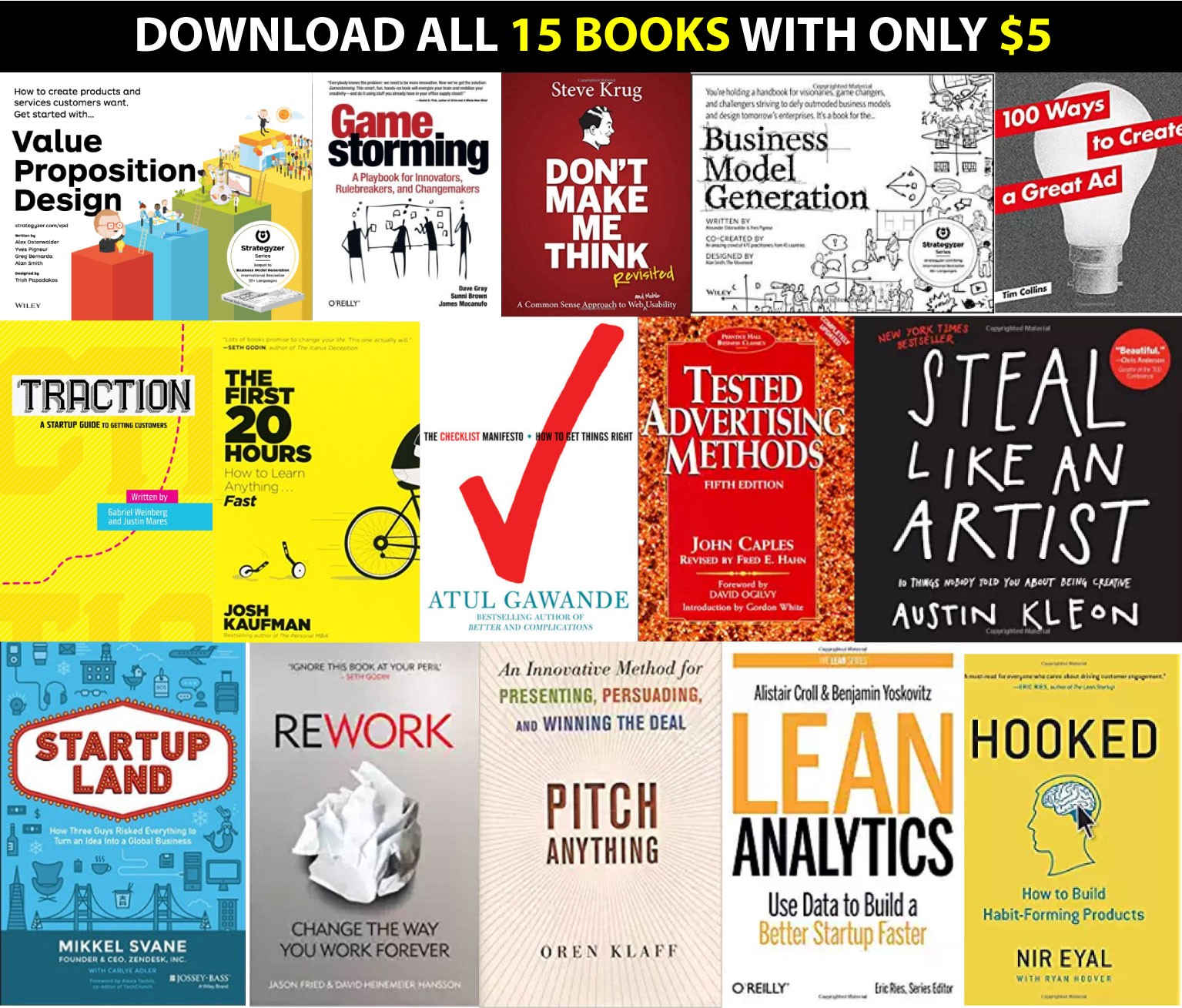 read these 15 books before starting your next startup side project