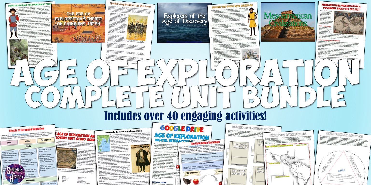 Age of Exploration Discovery Activities Students of History – Age of Exploration Worksheets