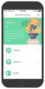 screenshot of Headspace mobile app