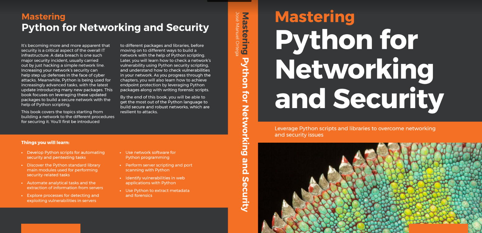 Book Review Mastering Python For Networking And Security