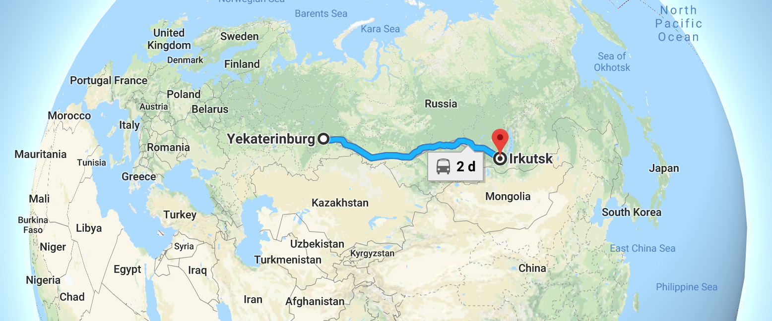 How many km from Ekaterinburg to Moscow Overcoming the distance in several ways 34