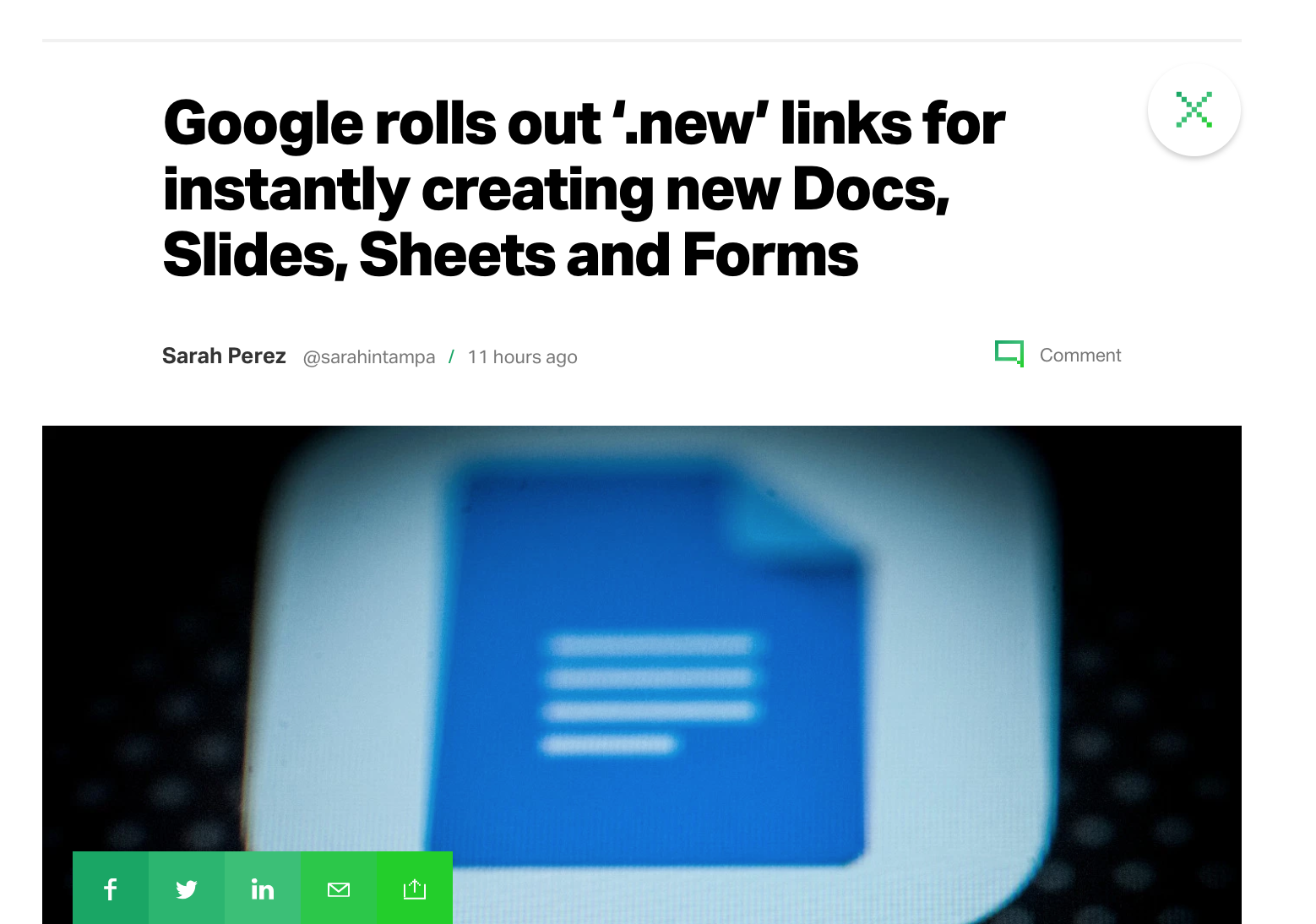 google rolls out new links for instantly creating new docs