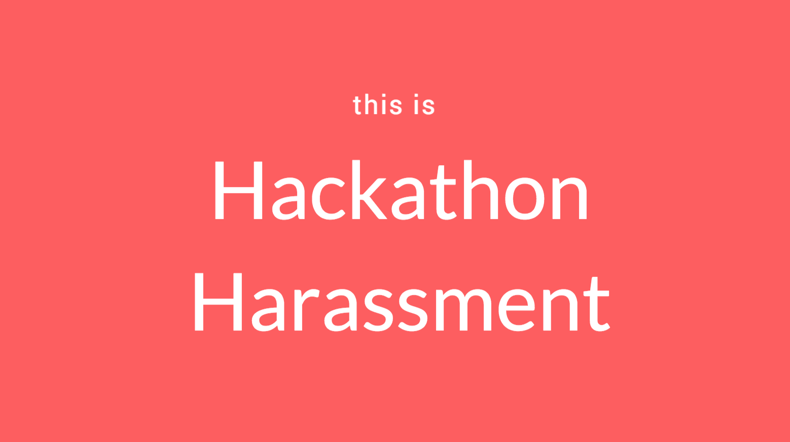 This is hackathon harassment code like a girl thecheapjerseys Image collections