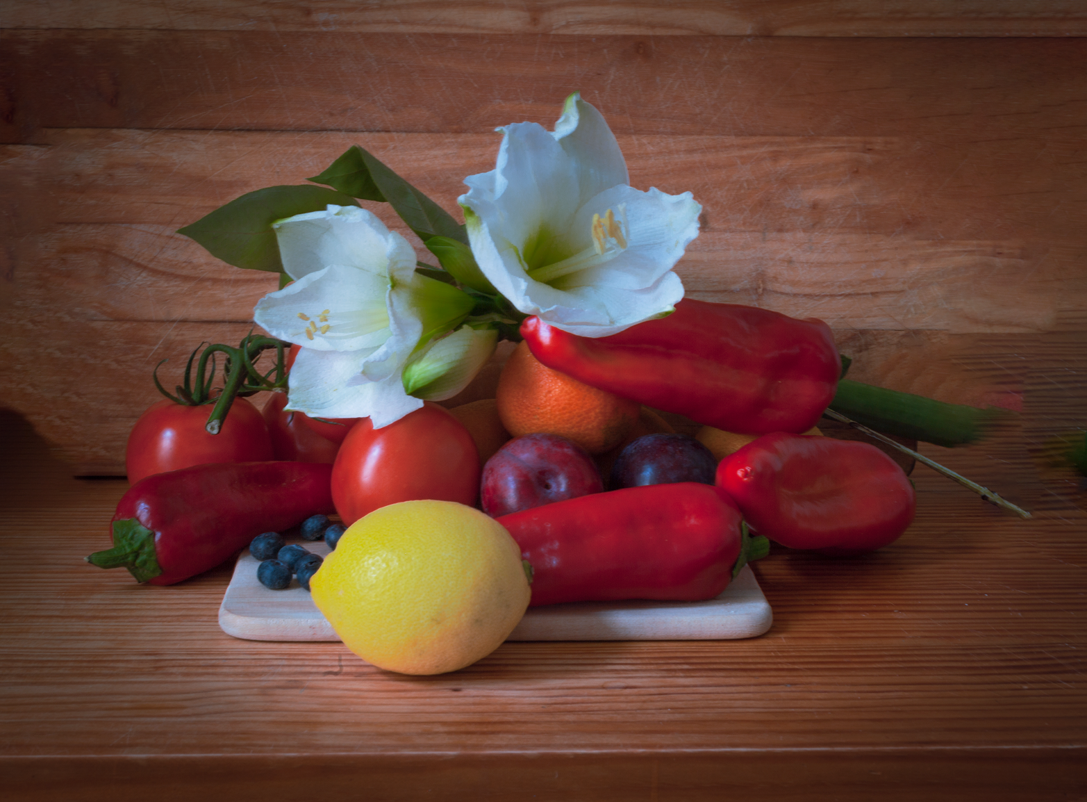 Lemon andPeppers still life photograph, by Sean P. Durham, Berlin, 2020
