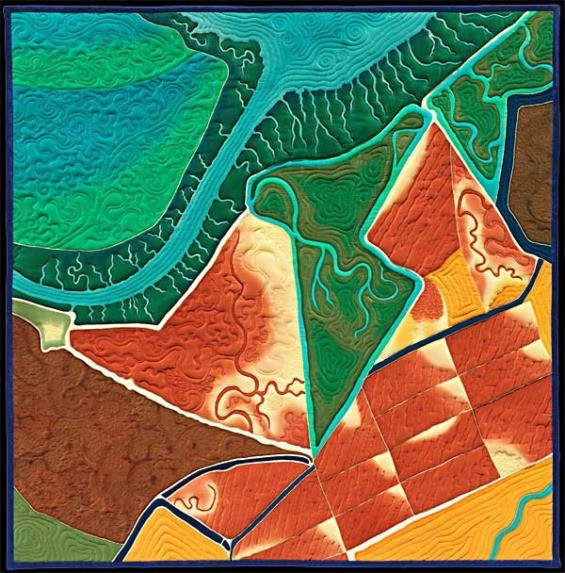 Aerial Views of the Bay Area On a Quilt The Bold Italic San