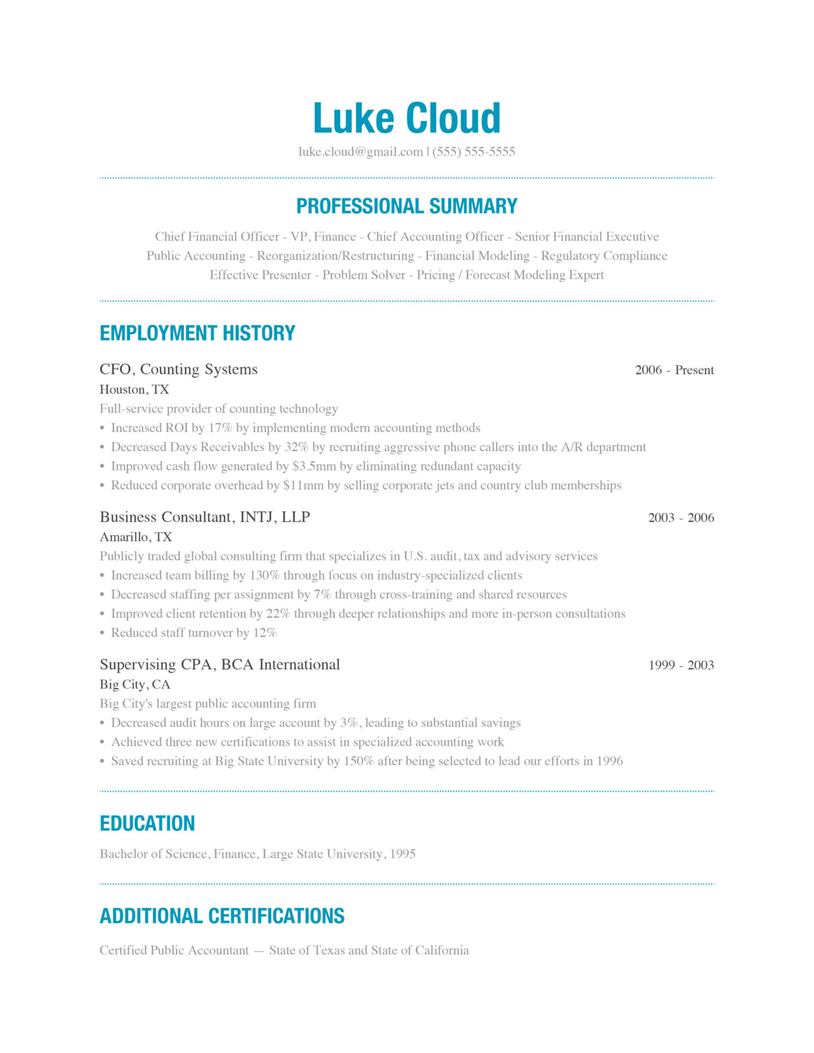 A free modern beautiful way to write your resume well