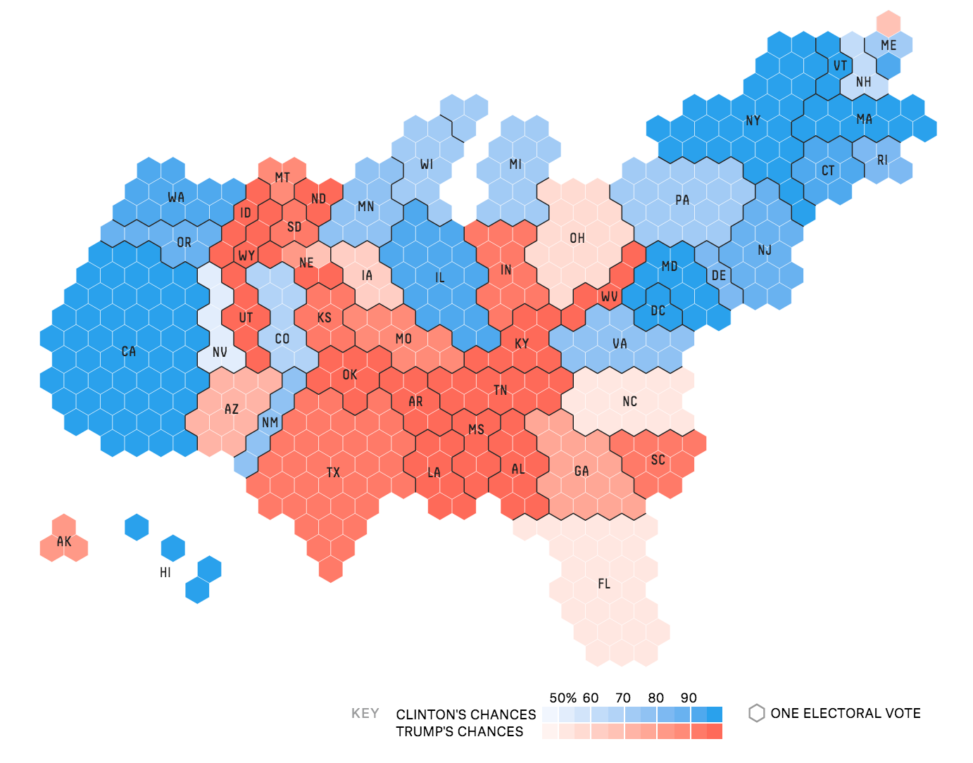 Final electoral college map 2016 us