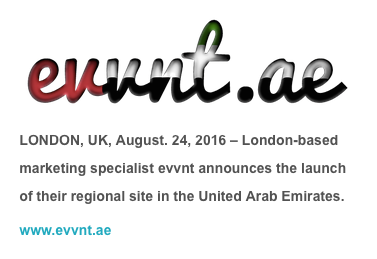 evvnt launch their service in the United Arab Emirates - evvnt.ae