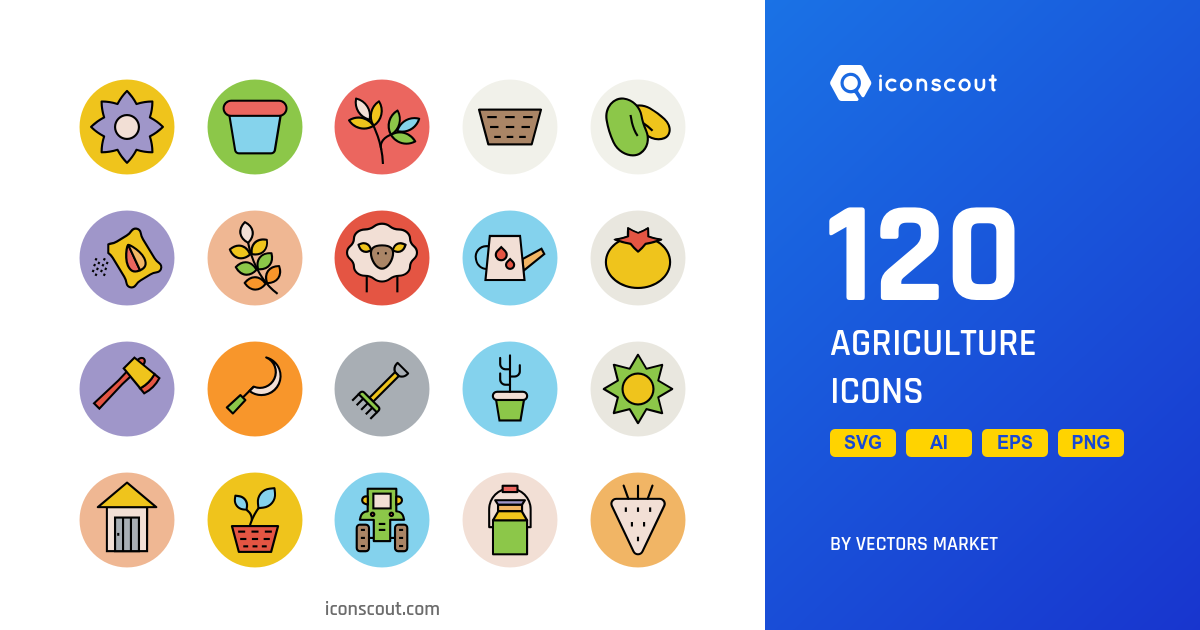 Agriculture icons by Vectors Market