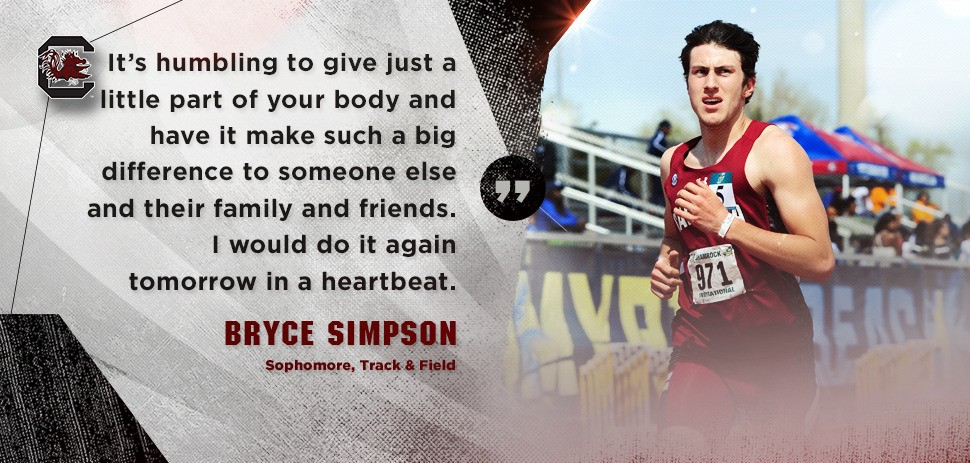 6cfabfe75db00 Athletes can often be praised for things that don't show up in the  scorebook. That holds true for South Carolina track and field  student-athleteBryce ...