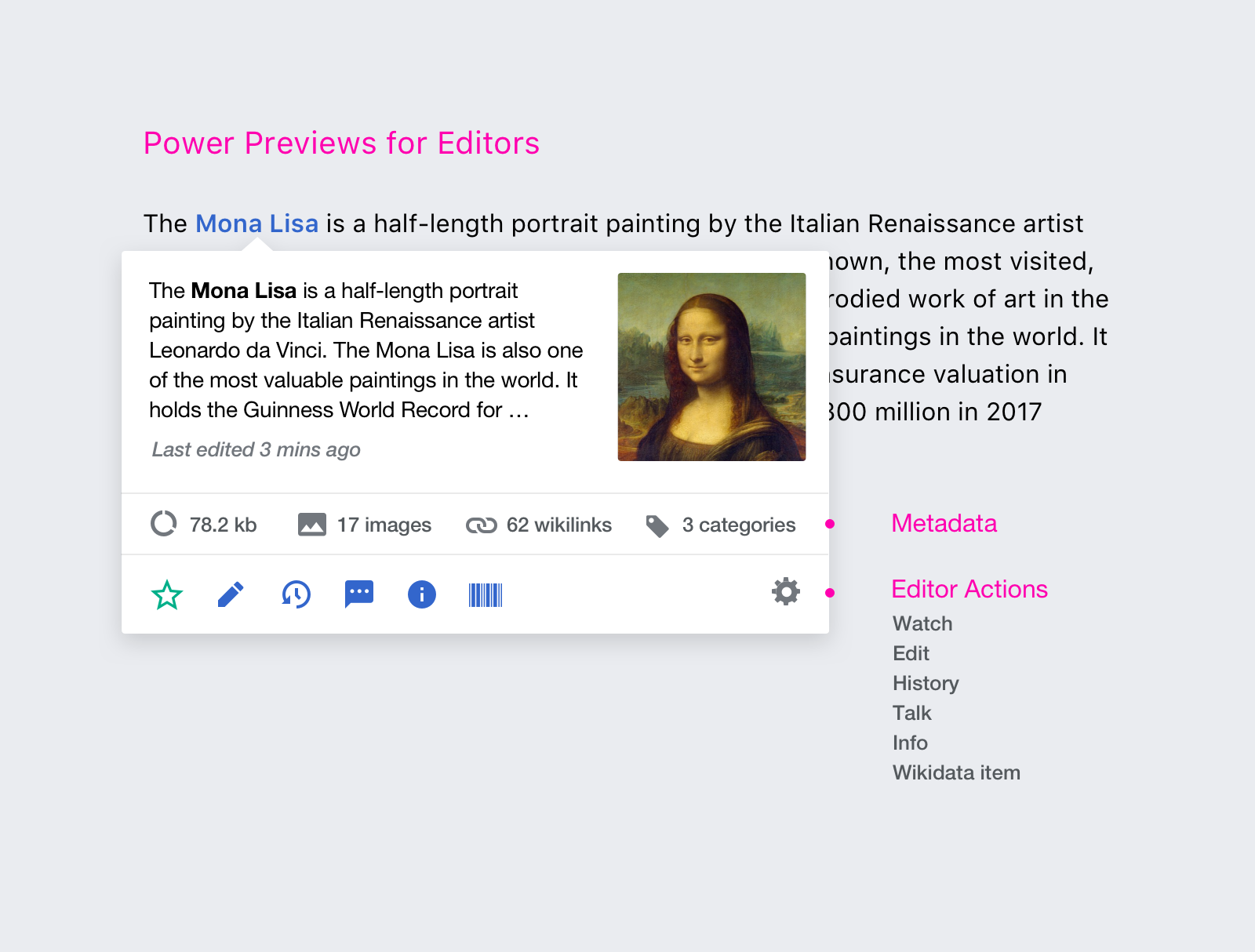 How we designed page previews for Wikipedia—and what could be done with them in the future